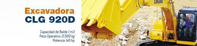 Excavadora CLG 920 D – 1m3 – 140 hp
