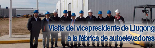 Visita del vicepresidente de Liugong a la fábrica de Autoevadores Liugong – Argentina