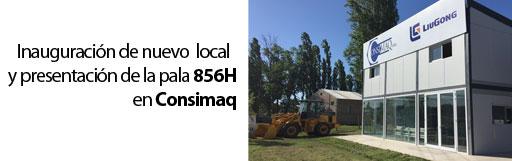 Inauguracion de nuevo salon de Consimaq y Presentacion 856H